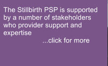 The Stillbirth PSP is supported by a number of stakeholders who provider support and expertise                     ...click for more